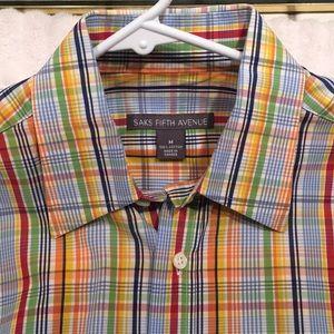Saks  fifth avenue men's multicolored long sleeve